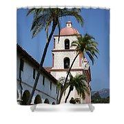 Old Mission Santa Barbara Shower Curtain