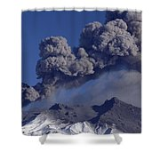 Mt Ruapehu 1996 Eruption New Zealand Shower Curtain