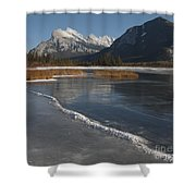 Mt. Rundle And Vermillion Lake Shower Curtain