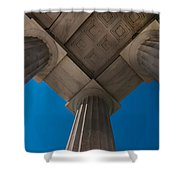 Neoclassical Ionic Architectural Details Shower Curtain