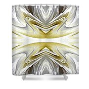 Nonstop Apple Blossom Abstract Shower Curtain