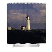 Northhead Ilwaco Lighthouse Shower Curtain