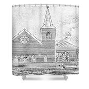 Norwegian Church Cardiff Bay Shower Curtain