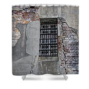 Vintage Jail Window Shower Curtain