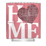 Orlando Street Map Home Heart - Orlando Florida Road Map In A He Shower Curtain
