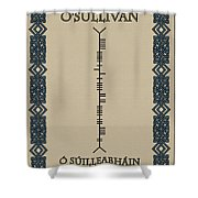 O'sullivan Written In Ogham Shower Curtain