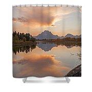 Oxbow Bend Grand Teton National Park Shower Curtain