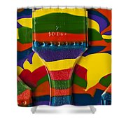 Paint Brushes Camouflaged Shower Curtain