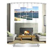 4-panel - Lake Powell Marina Shower Curtain