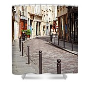 Paris Street Shower Curtain by Elena Elisseeva