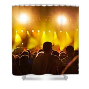People On Music Concert Shower Curtain
