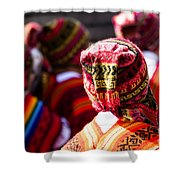 Peruvian Dancers At The Parade In Cusco Shower Curtain