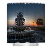 Charleston Sunrise  Shower Curtain