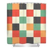 Pixel Art Square Shower Curtain