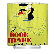 Poster Books, C1938 Shower Curtain