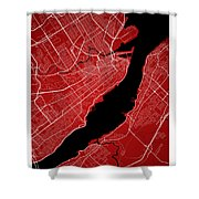 Quebec City Street Map - Quebec City Canada Road Map Art On Colo Shower Curtain