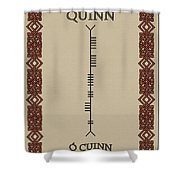 Quinn Written In Ogham Shower Curtain