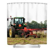 Raking Hay Shower Curtain