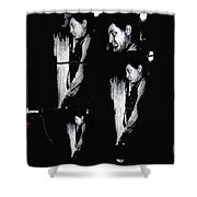 4 Robert Mitchum's Collage Young Billy Young Set Old Tucson Arizona 1968-2013 Shower Curtain
