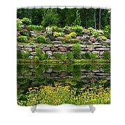 Rocks And Plants In Rock Garden Shower Curtain