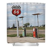 Route 66 - Adrian Texas Shower Curtain