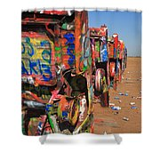 Route 66 - Cadillac Ranch Shower Curtain