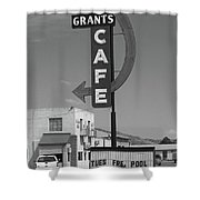 Route 66 - Grants Cafe Shower Curtain