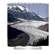 Salmon Glacier Shower Curtain