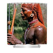 Samburu Warrior Shower Curtain