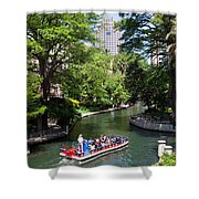 San Antonio Riverwalk Shower Curtain