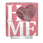 San Diego Street Map Home Heart - San Diego California Road Map  Shower Curtain