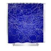 San Jose Street Map - San Jose Costa Rica Road Map Art On Colore Shower Curtain