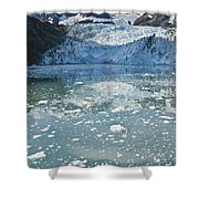 Scenic View Of Stairway Glacier R Shower Curtain