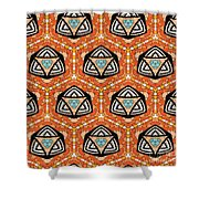 Seamlessly Tiled Kaleidoscopic Mosaic Pattern Shower Curtain
