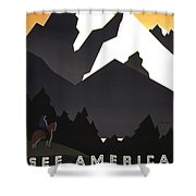 See America Poster, C1937 Shower Curtain