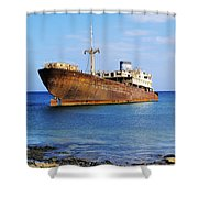 Shipwreck On Lanzarote Shower Curtain
