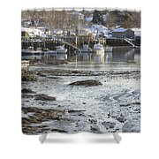 South Bristol On The Coast Of Maine Shower Curtain by Keith Webber Jr