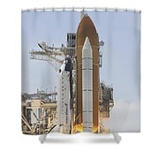 Space Shuttle Atlantis Twin Solid Shower Curtain