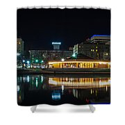 Spokane Washingon Downtown Streets And Architecture Shower Curtain