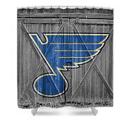 St Louis Blues Shower Curtain