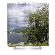 St Moritz Lake Shower Curtain