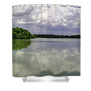 4-summer Time At Moraine View State Park Shower Curtain