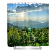 Sunrise Over Blue Ridge Mountains Scenic Overlook  Shower Curtain