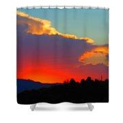 Sunset In Golden Valley Shower Curtain