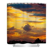 Sunset Sky By Artist Nature Shower Curtain