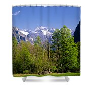 Swiss Alps Shower Curtain