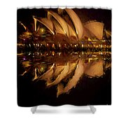 Sydney Opera House Abstract Shower Curtain