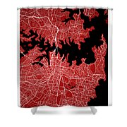 Sydney Street Map - Sydney Australia Road Map Art On Colored Bac Shower Curtain