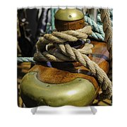 Tall Ship Rigging Vertical Shower Curtain