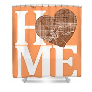 Tampa Street Map Home Heart - Tampa Florida Road Map In A Heart Shower Curtain